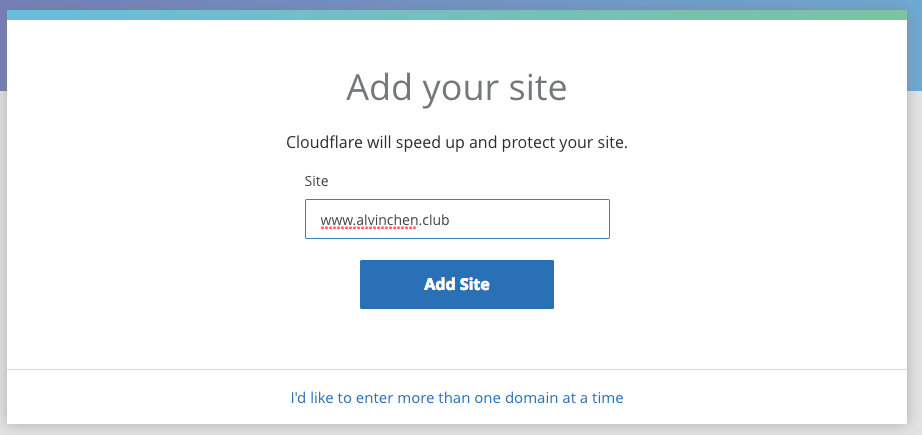 CloudFlare site