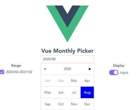 vue-month-picker in Nuxt